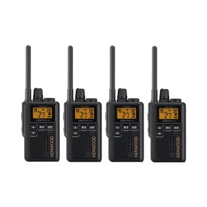 KENWOOD/ケンウッドUBZ-M51S(ブラック)特定小電力トランシーバー中継器対応4台セット(無線機・インカム)