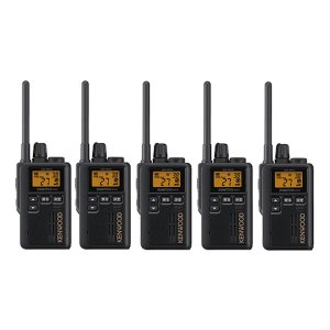 KENWOOD/ケンウッドUBZ-M51S(ブラック)特定小電力トランシーバー中継器対応5台セット(無線機・インカム)