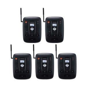 KENWOOD/ケンウッドUBZ-S700中継局対応 特定小電力トランシーバー(ベース機 )5台セット(無線機・インカム)