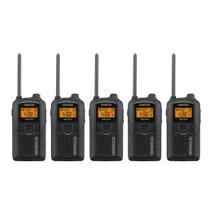 KENWOOD/ケンウッド UBZ-LP27R(ブラック)中継器対応特定小電力トランシーバー5台セット(無線機・インカム)