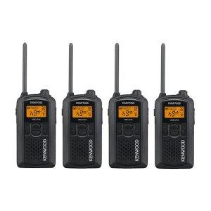 KENWOOD/ケンウッドUBZ-LP20B(ブラック)特定小電力トランシーバー4台セット(無線機・インカム)