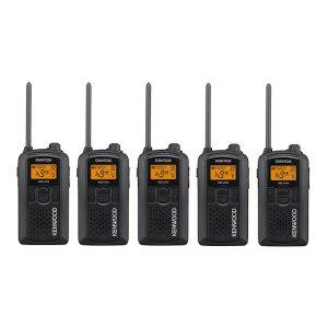 KENWOOD/ケンウッドUBZ-LP20B(ブラック)特定小電力トランシーバー5台セット(無線機・インカム)