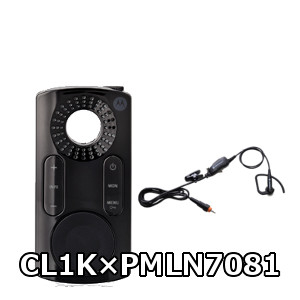 MOTOROLA / モトローラ トランシーバーCL1K+カナル型イヤホンマイクセット CL1K (クリック) / PMLN7081