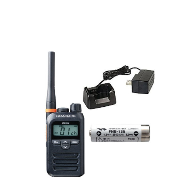 STANDARD/スタンダード特定小電力トランシーバーFTH-314+ニッケル水素電池 FNB-135+急速充電器 SBH-31セット (無線機・インカム)
