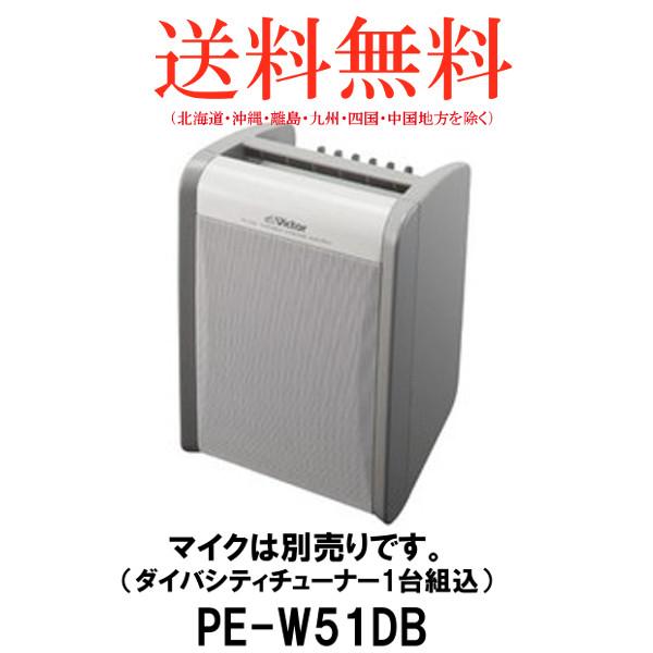 JVC KENWOOD ビクター/ケンウッド PE-W51DB ポータブルワイヤレスアンプ 800MHz帯ワイヤレス対応ダイバシティチューナー1波同梱