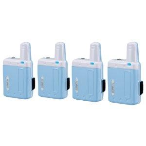アルインコ特定小電力トランシーバーラペルトークDJ-PX7-BLブルー4台セット(無線機・インカム)