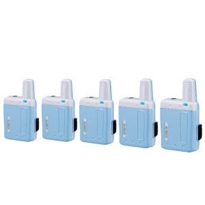 アルインコ特定小電力トランシーバーラペルトークDJ-PX7-BLブルー5台セット(無線機・インカム)