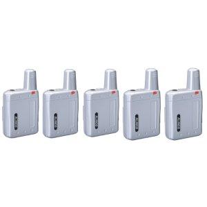 アルインコ特定小電力トランシーバーラペルトークDJ-PX7-SIシルバー5台セット(無線機・インカム)