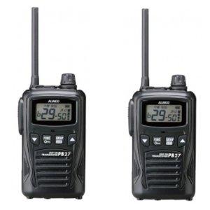 ALINCO アルインコ 特定小電力トランシーバー DJ-PB27B (ブラック)2台セット(無線機・インカム)