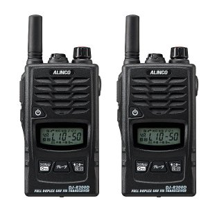 ALINCO アルインコ 47ch 中継対応 防浸型 特定小電力トランシーバー DJ-R200DS ショートアンテナ2台セット(無線機・インカム)