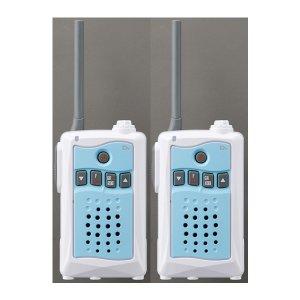 アルインコ 特定小電力トランシーバー DJ-CH3A (アクアブルー)交互通話・中継対応 47ch2台セット(無線機・インカム)