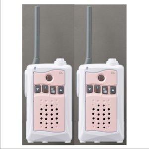 アルインコ特定小電力トランシーバーDJ-CH3P (ピンク) 交互通話・中継対応 47ch2台セット(無線機・インカム)