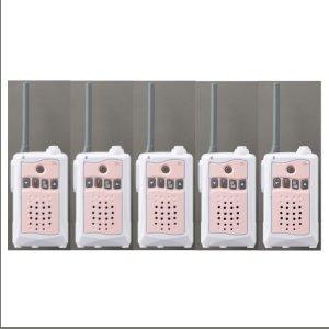 アルインコ特定小電力トランシーバーDJ-CH3P (ピンク) 交互通話・中継対応 47ch5台セット(無線機・インカム)