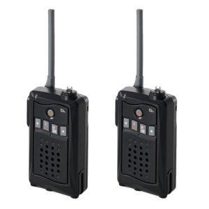 アルインコ 特定小電力トランシーバー DJ-CH3B (ブラック) 交互通話・中継対応 47ch2台セット(無線機・インカム)
