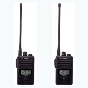 ALINCO アルインコ DJ-P240L ロングアンテナ  交互通話・交互中継通話対応特定小電力トランシーバー2台セット(無線機・インカム)