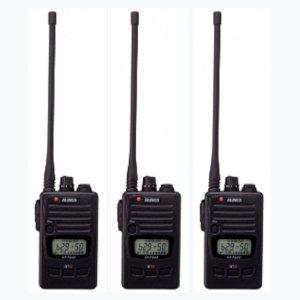 ALINCO アルインコ DJ-P240L ロングアンテナ  交互通話・交互中継通話対応特定小電力トランシーバー3台セット(無線機・インカム)