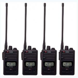 ALINCO アルインコ DJ-P240L ロングアンテナ  交互通話・交互中継通話対応特定小電力トランシーバー4台セット(無線機・インカム)