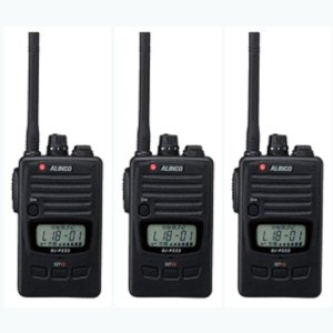 ALINCO アルインコ DJ-P240S ショートアンテナ  交互通話・交互中継通話対応特定小電力トランシーバー3台セット(無線機・インカム)