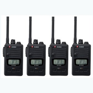 ALINCO アルインコ DJ-P240S ショートアンテナ  交互通話・交互中継通話対応特定小電力トランシーバー4台セット(無線機・インカム)