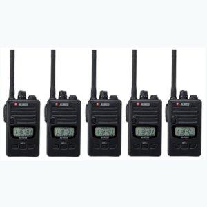 ALINCO アルインコ DJ-P240S ショートアンテナ  交互通話・交互中継通話対応特定小電力トランシーバー5台セット(無線機・インカム)
