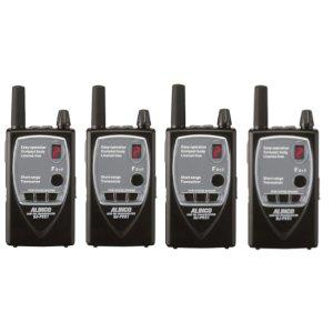 ALINCO アルインコ 薄型 特定小電力トランシーバー DJ-P921S (ショートアンテナ)4台セット 中継器対応(無線機・インカム)
