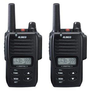 ALINCO アルインコ デジタル簡易無線・登録局(3R 陸上)1W デジタル30ch (351MHz) ハンディトランシーバー DJ-DP10(B)2台セット(無線機・インカム)