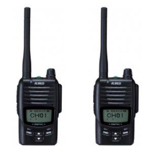ALINCO アルインコ デジタル簡易無線・登録局(3R 陸上) 5W デジタル30ch (351MHz) ハンディトランシーバー DJ-DPS502台セット(無線機・インカム)