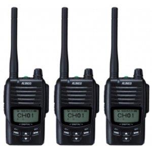 ALINCO アルインコ デジタル簡易無線・登録局(3R 陸上) 5W デジタル30ch (351MHz) ハンディトランシーバー DJ-DPS503台セット(無線機・インカム)