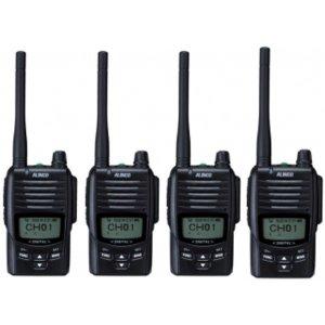 ALINCO アルインコ デジタル簡易無線・登録局(3R 陸上) 5W デジタル30ch (351MHz) ハンディトランシーバー DJ-DPS504台セット(無線機・インカム)