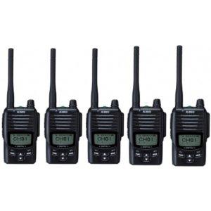ALINCO アルインコ デジタル簡易無線・登録局(3R 陸上) 5W デジタル30ch (351MHz) ハンディトランシーバー DJ-DPS505台セット(無線機・インカム)
