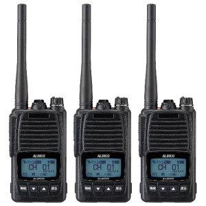 ALINCO アルインコ 5W デジタル30ch (351MHz) ハンディトランシーバー DJ-DPS70KB デジタル簡易無線 登録局3台セット(無線機・インカム)
