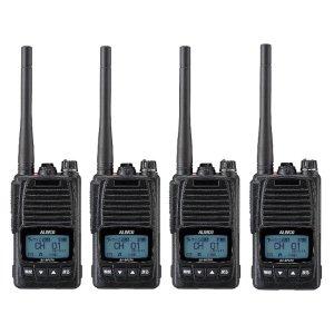 ALINCO アルインコ 5W デジタル30ch (351MHz) ハンディトランシーバー DJ-DPS70KB デジタル簡易無線 登録局4台セット(無線機・インカム)