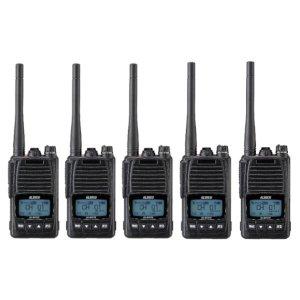 ALINCO アルインコ 5W デジタル30ch (351MHz) ハンディトランシーバー DJ-DPS70KB デジタル簡易無線 登録局5台セット(無線機・インカム)