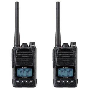 ALINCO アルインコ 5W デジタル30ch (351MHz) ハンディトランシーバー DJ-DPS70KB デジタル簡易無線 登録局2台セット(無線機・インカム)
