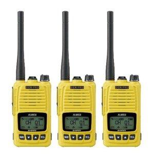 ALINCO アルインコ 5W デジタル30ch (351MHz) ハンディトランシーバー DJ-DPS70YA デジタル簡易無線 登録局3台セット(無線機・インカム)