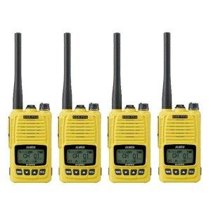 ALINCO アルインコ 5W デジタル30ch (351MHz) ハンディトランシーバー DJ-DPS70YA デジタル簡易無線 登録局4台セット(無線機・インカム)
