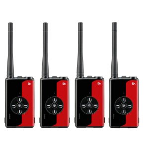 アルインコ デジタル簡易無線登録局 DJ-DPX1 RA(ルビーレッド)4台セット(無線機・インカム)
