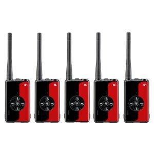アルインコ デジタル簡易無線登録局 DJ-DPX1 RA(ルビーレッド)5台セット(無線機・インカム)
