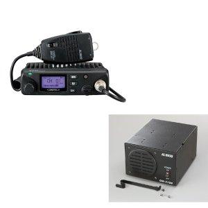 ALINCO アルインコ5W デジタル30ch (351MHz) モービルトランシーバー+AC100VセットDR-DPM60+DM-S104(無線機・インカム)