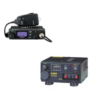 ALINCO アルインコ 5W デジタル30ch (351MHz) モービルトランシーバー+安定化電源器セットDR-DPM60+DM-305MV(無線機・インカム)