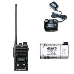 ALINCO アルインコ 特定小電力トランシーバー+充電器+バッテリーセットDJ-R200DL(ロングアンテナ)+EDC-131A+EBP-60(無線機・インカム)