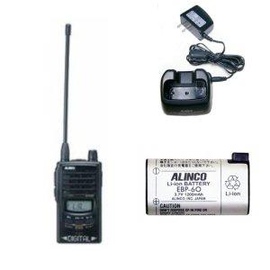 ALINCO アルインコ デジタル特定小電力トランシーバー+充電器+バッテリーセットDJ-P35D+EDC-131A+EBP-60(無線機・インカム)