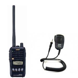 ALINCO アルインコモノバンド144MHzFM5Wトランシーバー+スピーカーマイクセットDJ-S17L+EMS-62(無線機・インカム)