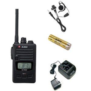 ALINCO アルインコ 特定小電力トランシーバ+充電器+バッテリー+イヤホンセットDJ-P222M+EDC-181A+EBP-179+EME-654MA(無線機・インカム)