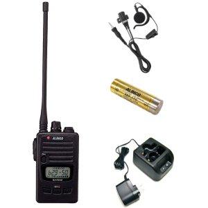 ALINCO アルインコ 特定小電力トランシーバー+充電器+バッテリー+イヤホンセットDJ-P221L+EDC-181A+EBP-179+EME-654MA(無線機・インカム)