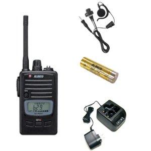 ALINCO アルインコ特定小電力トランシーバー+充電器+バッテリー+イヤホンセットDJ-P221M+EDC-181A+EBP-179+EME-654MA(無線機・インカム)