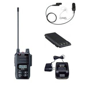 ALINCO アルインコ 特定小電力トランシーバー+充電器+バッテリー+イヤホンセットDJ-P45+EDC-180A+EBP-77+EME-41A(無線機・インカム)
