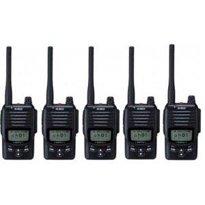 ALINCO アルインコDJ-DP50HBデジタル簡易無線(登録局)5台セット(無線機・インカム)