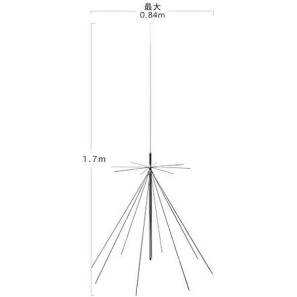 第一電波工業ダイヤモンドアンテナDIAMOND ANTENNA D1300AM AMラジオ受信対応スーパーディスコーンアンテナ25-1300MHz受信+中波(AM)50/144/430/904/1200MHz帯送信可能(DIGITAL対応)