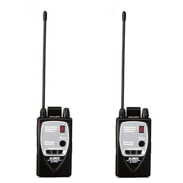 ALINCO アルインコ 薄型 特定小電力トランシーバー DJ-P921L (ロングアンテナ) 2台セット 中継器対応(無線機・インカム)